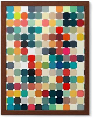 Poster en cadre Résumé rétro motif géométrique transparent pour votre conception