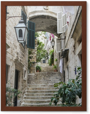 Trapper i Old City of Dubrovnik Indrammet plakat