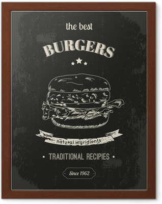 Gerahmtes Poster Hamburger Poster