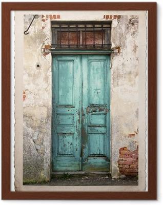 Poster en cadre Vieille photo de la porte millésime - iStaging