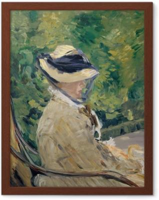 Poster en cadre Madame Manet - Impressionnisme