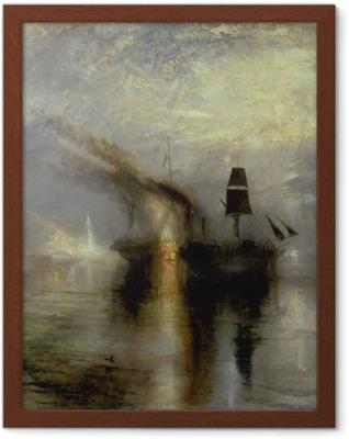 William Turner - Hautajaiset merellä Kehystetty juliste