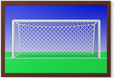 Canvastavla Fotbollsmål framifrån i detalj. Vektor illustration. • Pixers®  - Vi lever för förändring 474809e11080e
