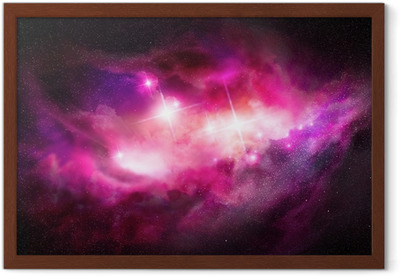 Ingelijste Poster Space Nebula - Interstellar Cloud