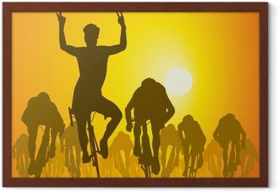 Plakat w ramie Silhouette_Cycliste_Sprint