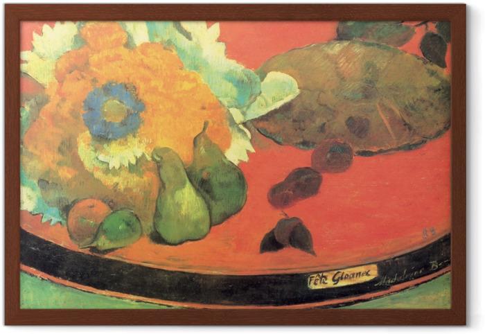 Plakat w ramie Paul Gauguin - Martwa natura Fête Gloanec - Reprodukcje