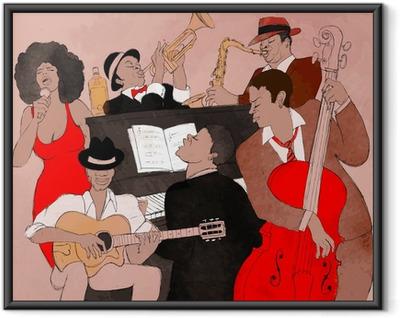 Póster Enmarcado Jazz band