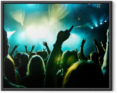 Poster en cadre Concert foule en mouvement