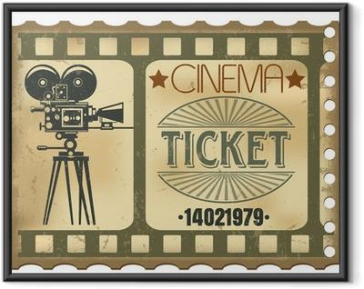 Ingelijste Poster Ticket in de bioscoop