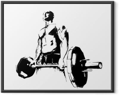 Ingelijste Poster De Bodybuilder