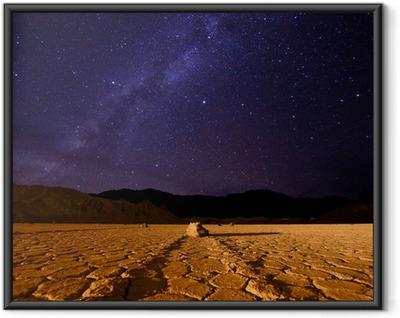 Ingelijste Poster Mooie Milky Way Formation in Death Valley California