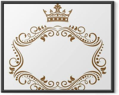 Plakat w ramie Elegancka ramka z korony królewskiej