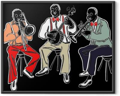 Poster en cadre Groupe de jazz - Musique