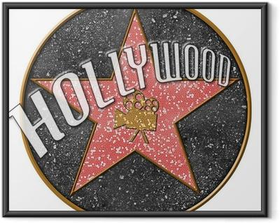 Póster com Moldura Hollywood Star