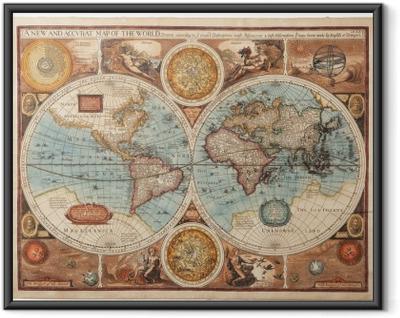 Poster in Cornice Vecchia mappa (1626)