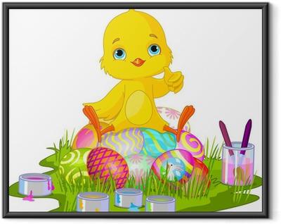Poster en cadre Poussin de Pâques