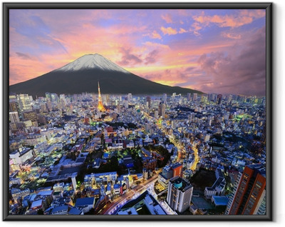 Tokyo and Fuji Framed Poster