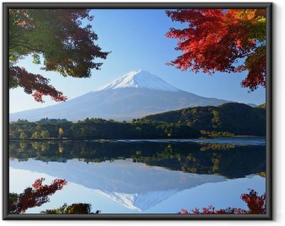 Poster en cadre Mt. Fuji à l'automne du lac Kawaguchi, Japon