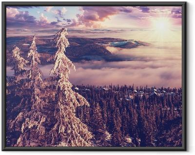Talvi Norjassa Kehystetty juliste