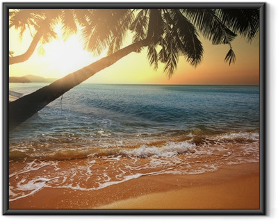 Gerahmtes Poster Tropical beach