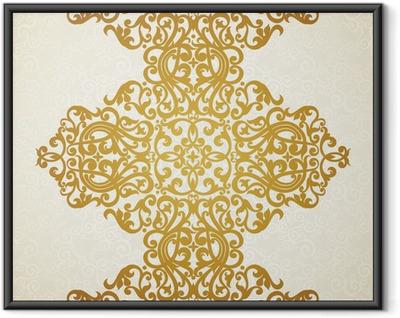Poster en cadre Vecteur frontière transparente dans le style victorien. Élément de design.