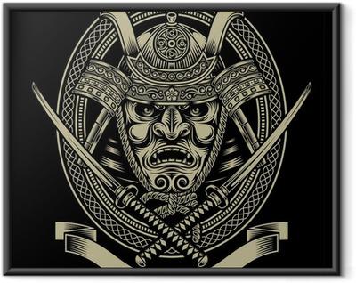 Poster en cadre Samurai Warrior Avec Katana