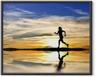 Poster en cadre Corriendo por la Orilla del lago