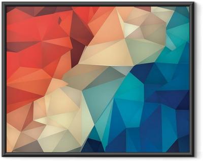 Plakat w ramie Abstrakcyjne geometryczne tło low poly.