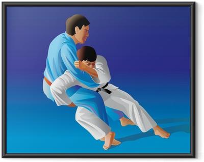 Poster in Cornice Illustrazione vettoriale di judo