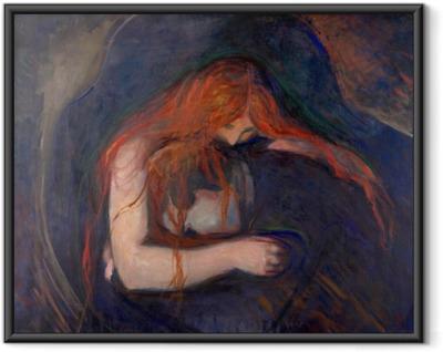 Ingelijste Poster Edvard Munch - Vampier