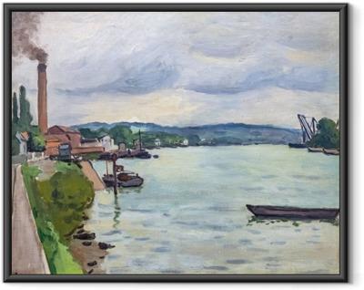 Gerahmtes Poster Albert Marquet - Die Seine (in der Nähe von Rouen)