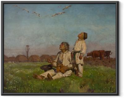 Józef Chełmoński - Storks Framed Poster