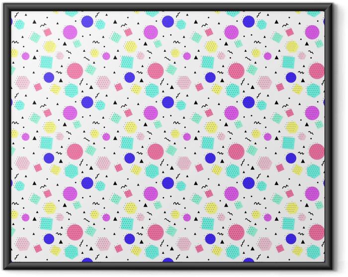 Poster en cadre motif géométrique Seamless -