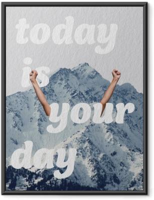 Poster i Ram Idag är din dag