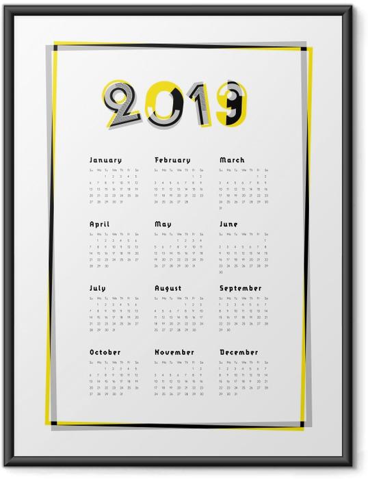 Plakat w ramie Kalendarz 2019 - Kalendarze 2018