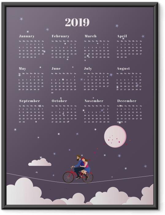 Çerçeveli Poster Takvim 2019 - yolculuk -