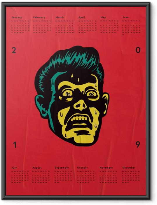 Gerahmtes Poster Kalender 2019 – Furcht -