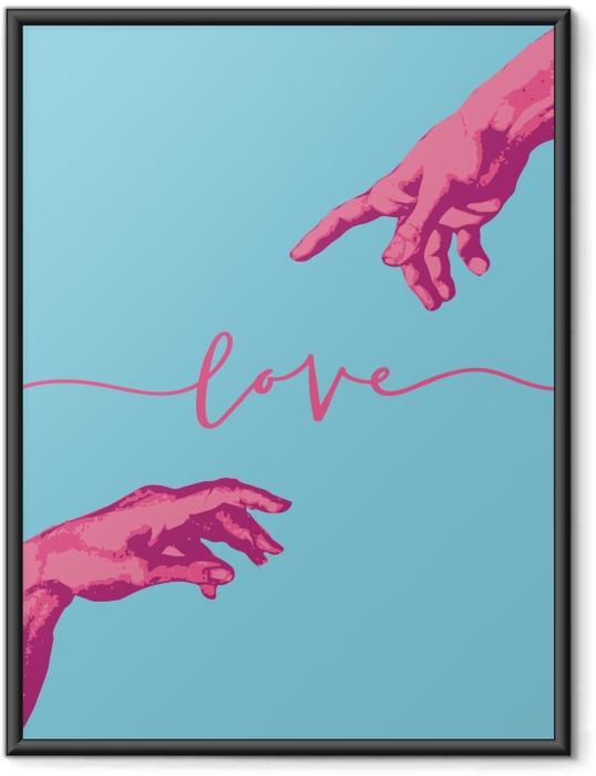 Poster en cadre main aimante -