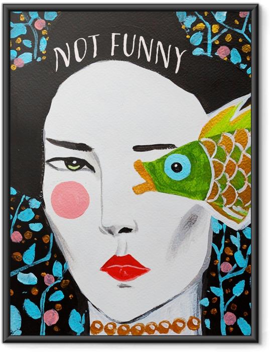 Póster Enmarcado Not funny -