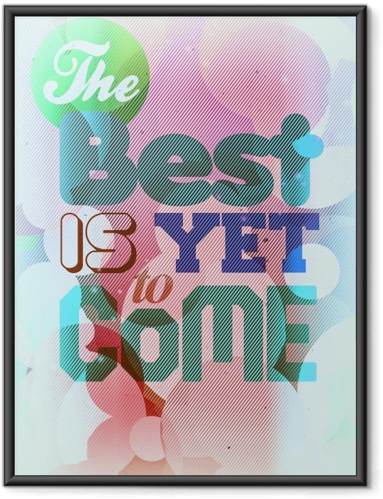 Gerahmtes Poster Motivierend Poster -