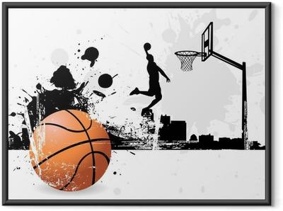 Plakat w ramie Koszykarz