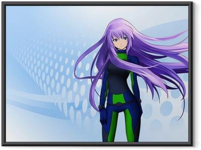 Poster en cadre Anime girl futuriste