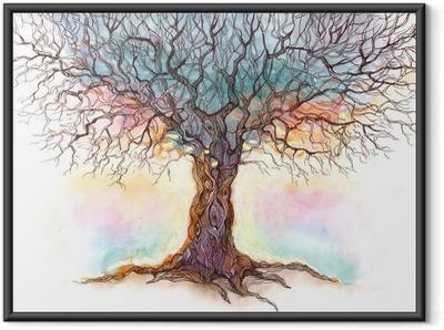 Póster Enmarcado Viejo árbol (serie C)