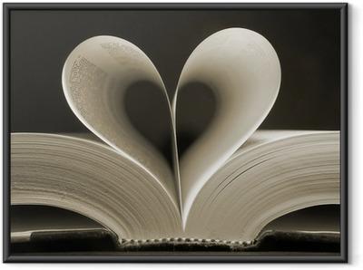 heart shaped book Framed Poster
