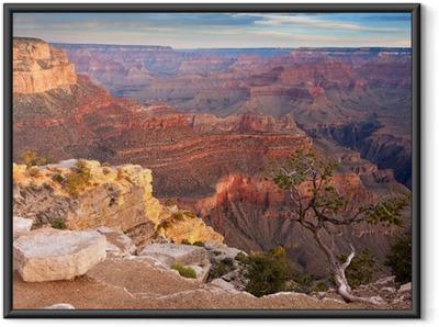 Sunrise over the Grand Canyon Framed Poster