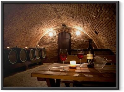 Viinikellari Kehystetty juliste
