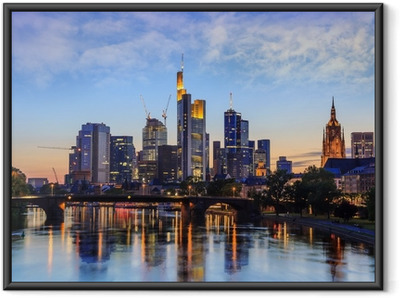 Poster en cadre Francfort Skyline, Allemagne - Allemagne