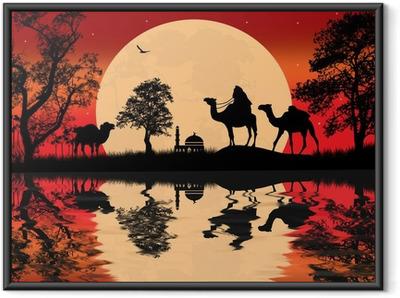 Poster i Ram Bedouin kamel husvagn