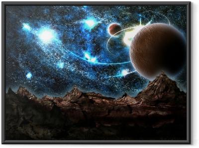 Gerahmtes Poster Die verlorene Welt, Planeten, Kosmos