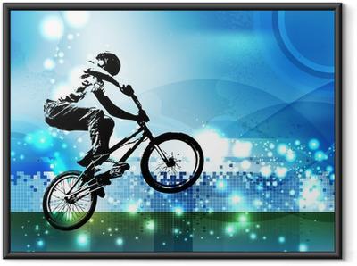 Plakat w ramie Bmx biker